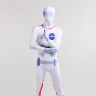 Halloween Nasa Astronaut Unisex Full Body Spandex Holiday Unisex Cosplay Zentai Suit