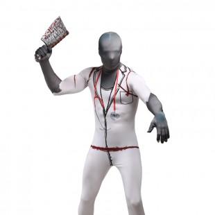 Horrible Doctor Full Body Halloween Spandex Holiday Unisex Cosplay Zentai Suit