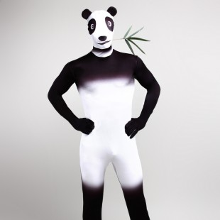 Panda Cartoon Full Body Halloween Spandex Holiday Unisex Cosplay Zentai Suit