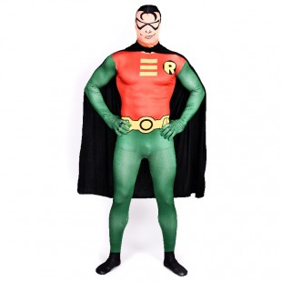 Robin Batman Full Body Halloween Spandex Holiday Unisex Cosplay Zentai Suit
