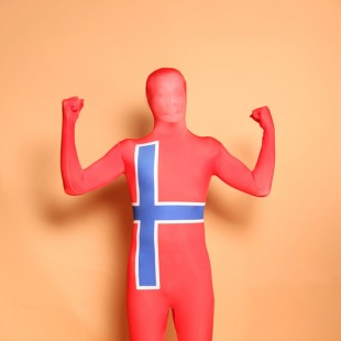 Sweden National Flag Full Body Halloween Spandex Holiday Unisex Cosplay Zentai Suit