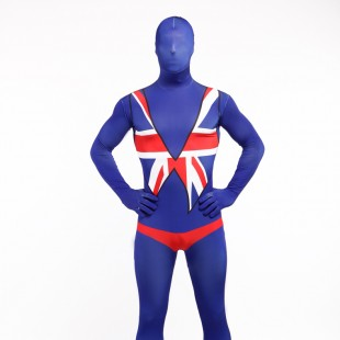 Uk National Flag Full Body Halloween Spandex Holiday Unisex Cosplay Zentai Suit