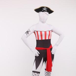 Unisex Pirates Servant Full Body Spandex Holiday Cosplay Zentai Suit