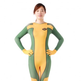 Yellow Green Full Body Halloween Spandex Holiday Unisex Cosplay Zentai Suit