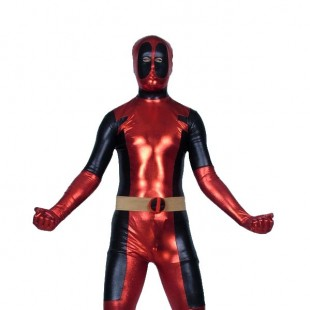 Deadpool Shiny Metallic Zentai Suit