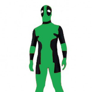 Green Deadpool Lycra Spandex Zentai Suit