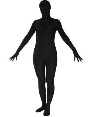 Unicolor Fullbody Full Body Black Spandex Morph Zentai Suit