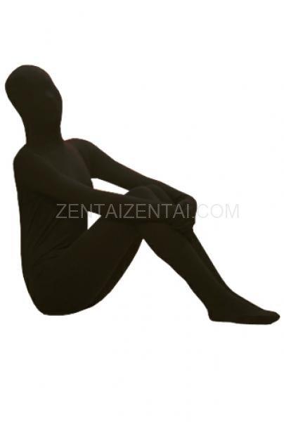 Classic Black Lycra Spandex Unisex Morph Zentai Suit