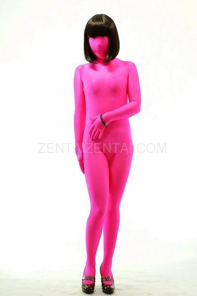 Fuxia Lycra Spandex Unisex Morph Zentai Suit