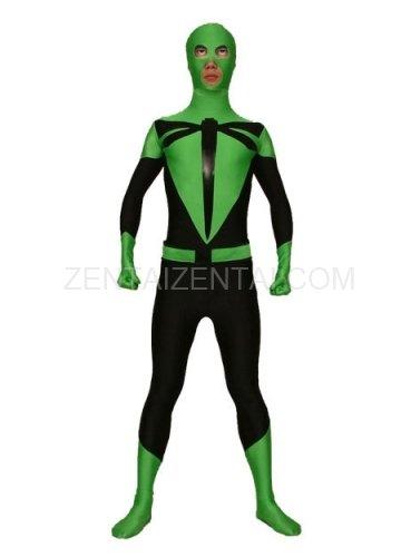 Green And Black Dargonfly Lycra Spandex Morph Zentai Suit