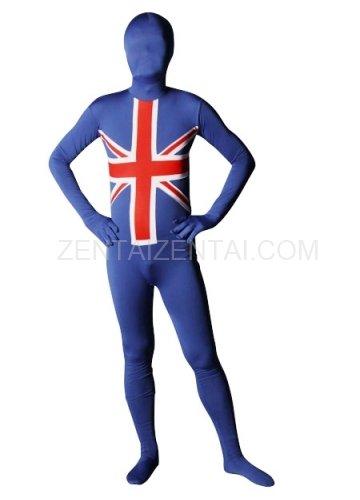 England Flag Pattern Unisex Lycra Morph Zentai Suit