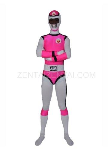 Deep Rose Lycra Men\'s Morph Zentai Suit