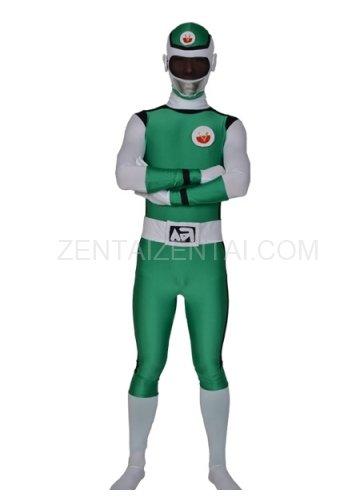 Green Lycra Men\'s Morph Zentai Suit