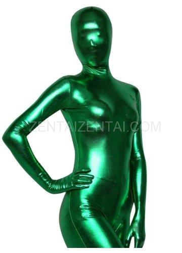 Green Shiny Metallic Morph Zentai Suit