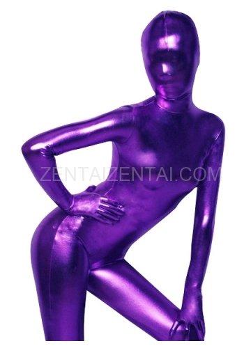 Purple Shiny Metallic Morph Zentai Suit