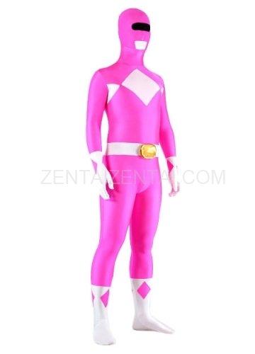 Rose And White Lycra Spandex Unisex Morph Zentai Suit