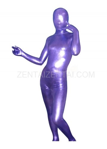 Superior Purple Shiny Metallic Unisex Morph Zentai Suit