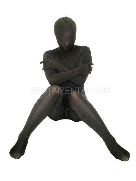 Black Ice Silk Morph Zentai Suit