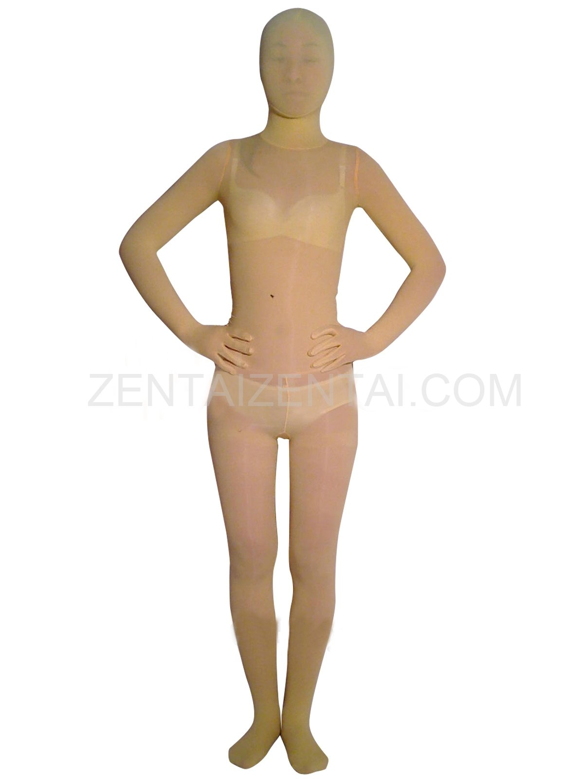 Classic Light Yellow Velvet Unisex Morph Zentai Suit