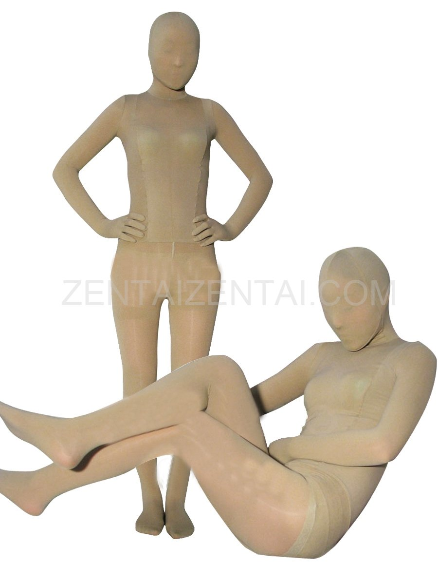 Flesh Color Velvet Unisex Morph Zentai Suit