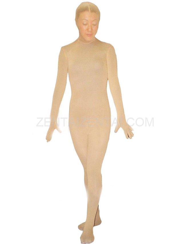 Flesh Velour Unisex Morph Zentai Suit