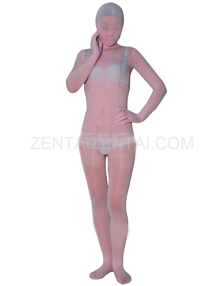 Light Pink Velvet Unisex Morph Zentai Suit