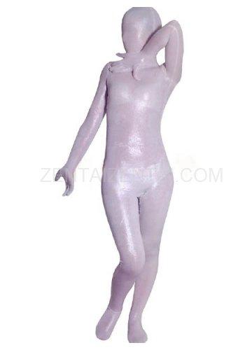 White Velvet Unisex Morph Zentai Suit