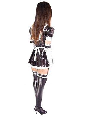 Top Black Shiny Metallic Lace Trim Sexy Dress