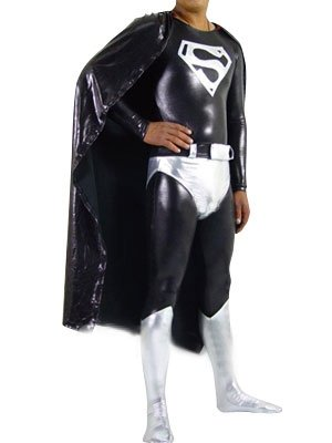 Dark Ultraman Shiny Metallic Super Hero Costume