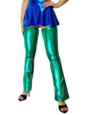 Green Shiny Metallic Sexy Pants