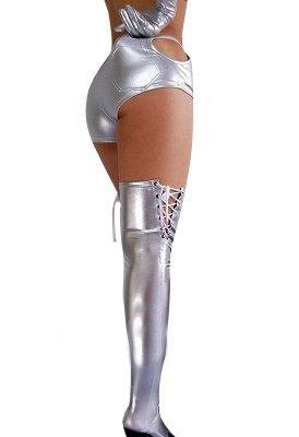 Silver Shiny Metallic Sexy Bottom