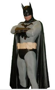 Movie and Television Animation Superhero Cosplay Batman Costume Morph Zentai Lycra Tights Fullbody
