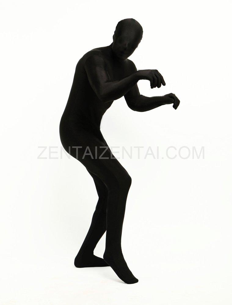 Black Full Body Spandex Halloween Cosplay Zentai Suit