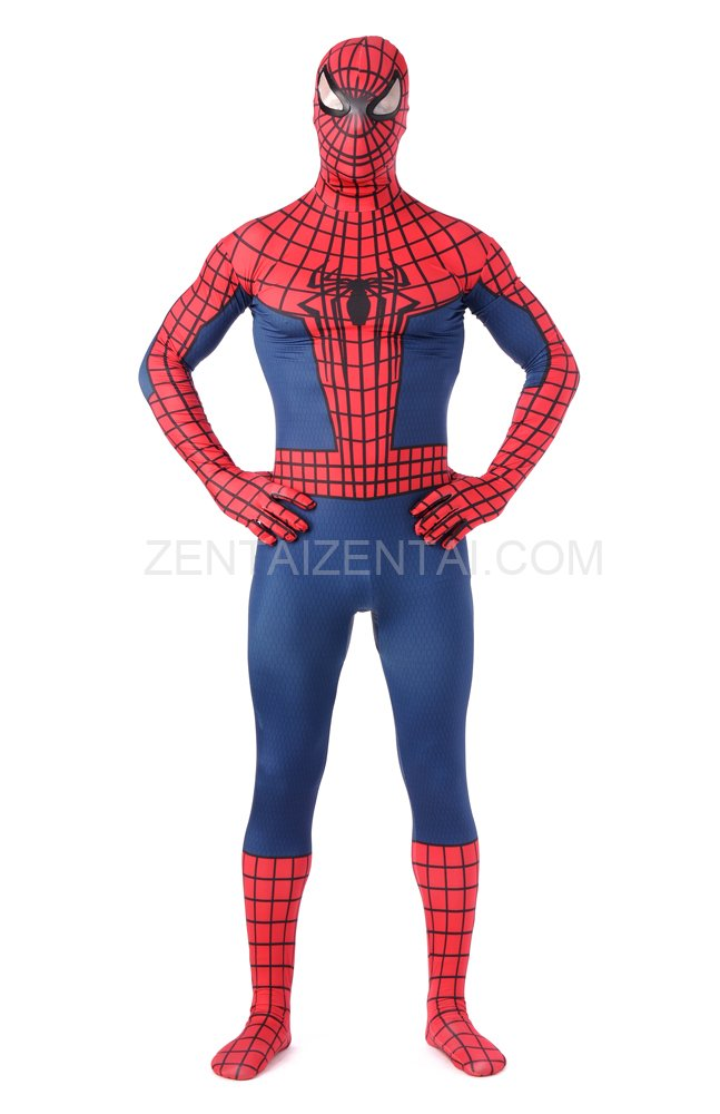 Black and Red Spiderman Super Hero Full Body Spandex Holiday Unisex Lycra Morph Zentai Suit