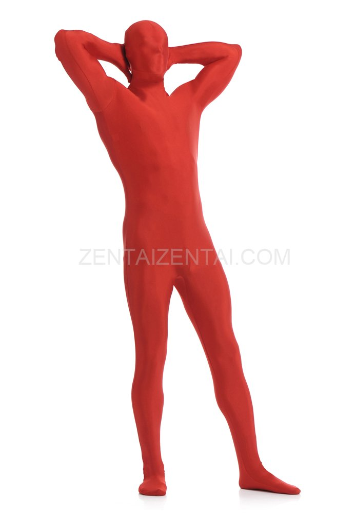 Red Full Body Spandex Holiday Unisex Lycra Morph Zentai Suit
