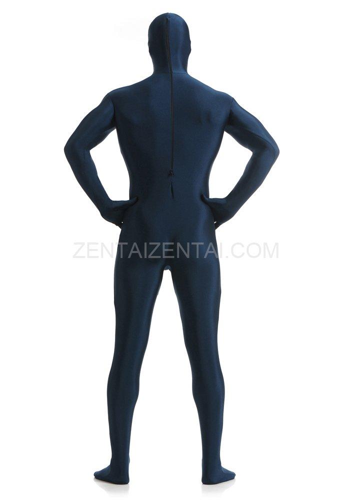 Unisex Deep Navy Blue Full Body Lycra Zentai Suit