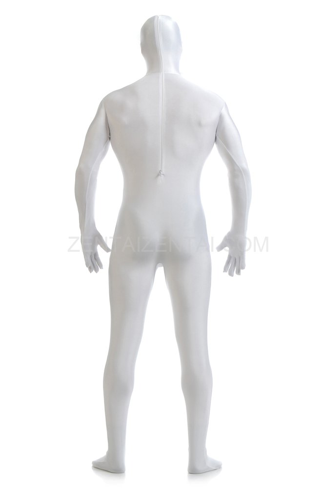 White Full Body Spandex Halloween Holiday Lycra Cosplay Suit