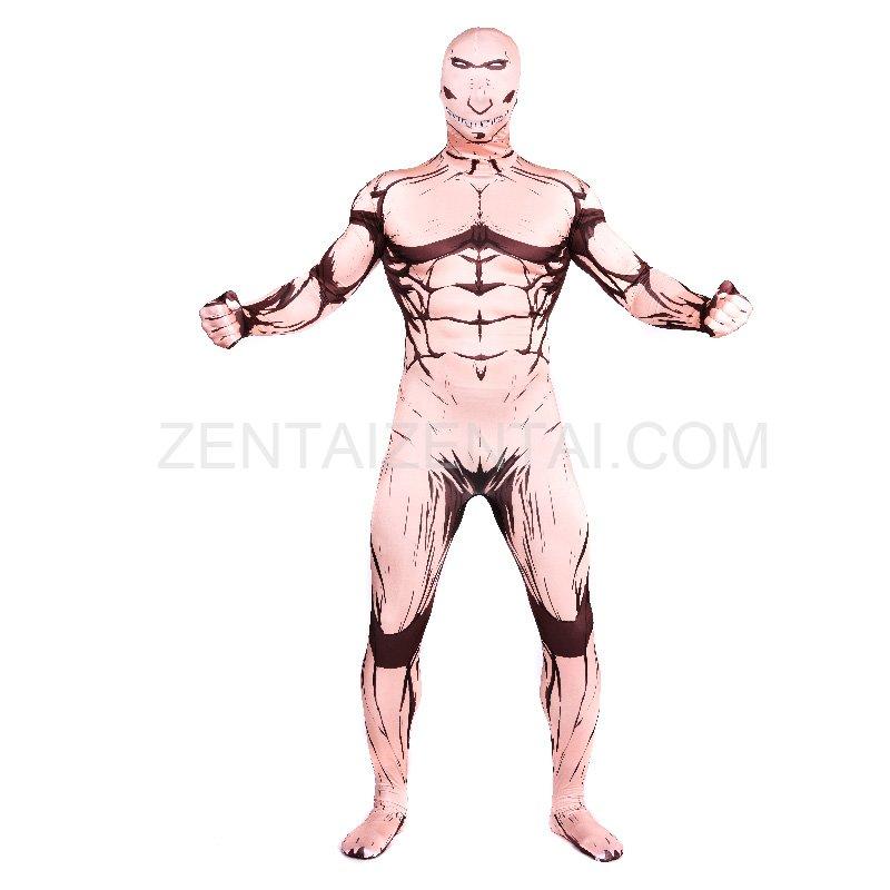 Attack on Titan Full Body Halloween Spandex Holiday Unisex Cosplay Zentai Suit