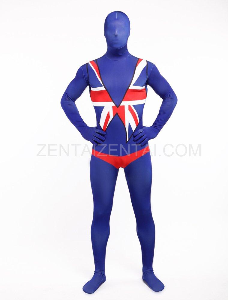 Uk National Flag Full Body Halloween Spandex Holiday Unisex Cosplay Zentai Suit