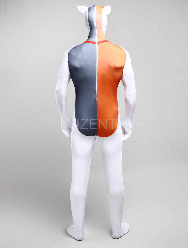 White Animal Monster Cartoon Full Body Halloween Spandex Holiday Unisex Cosplay Zentai Suit