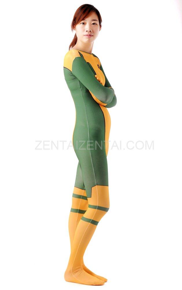 Yellow Green Full Body Halloween Spandex Holiday Unisex Cosplay Zentai Suit